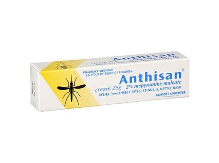 Anthisan 2% Mepyramine Maleate Cream 25gram Tube