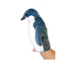 Antics Blue Penguin Hand Puppet with Realistic Sound
