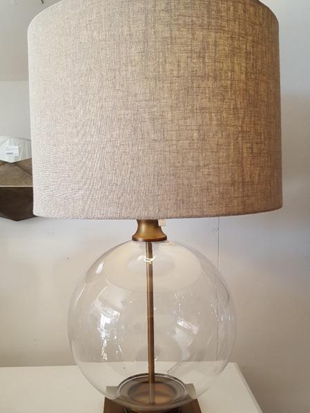 Antique Brass & Glass Lamp