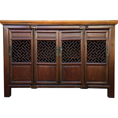 Antique Chinese Open Fretwork Sideboard