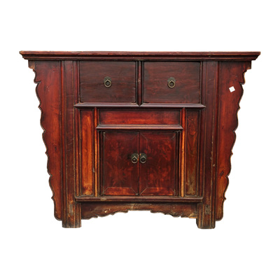 Antique Elm Altar Cabinet