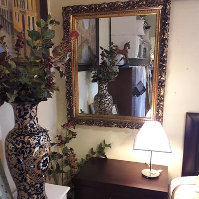 Antique English Ornate Mirror