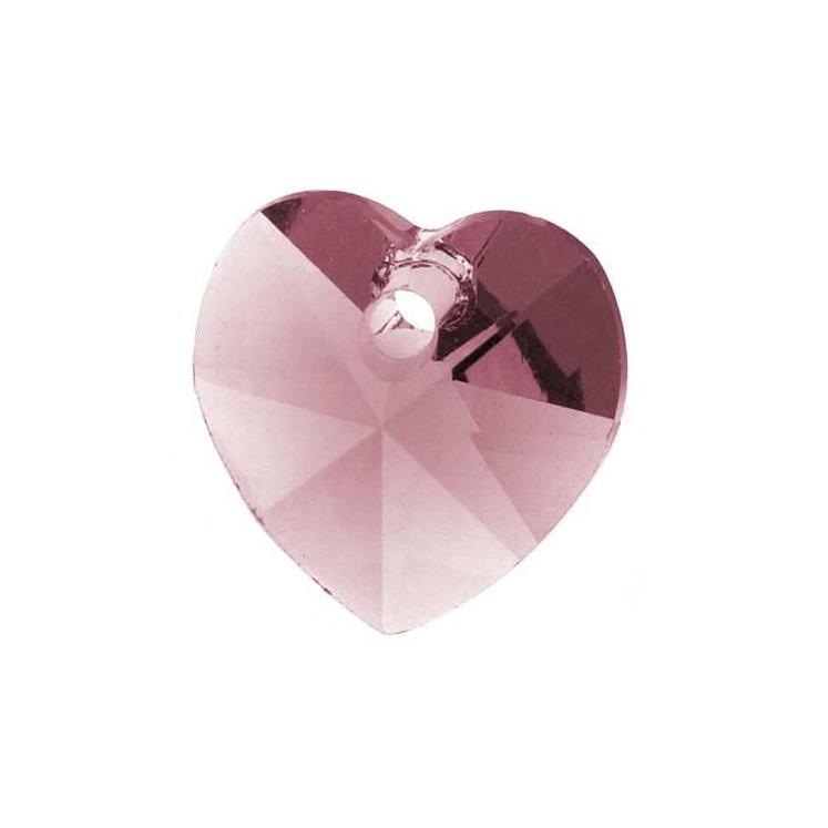 antique pink swarovski heart