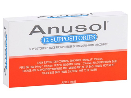 ANUSOL Suppositories 12pk