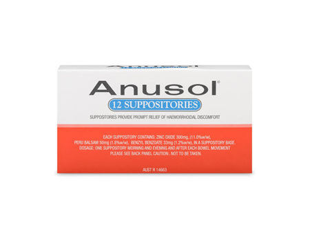 ANUSOL Suppositories 12pk