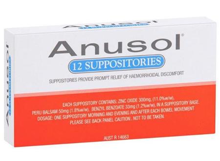 ANUSOL SUPPOSITORIES