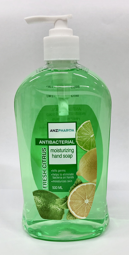 ANZ ANTIBACTERIAL HAND SOAP FRESH CITRUS