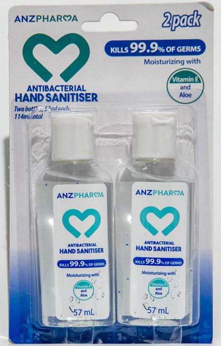 ANZP HAND SANITISER 57ML 2PK