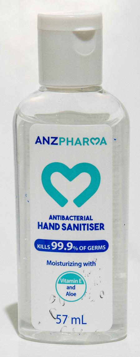 ANZP HAND SANITISER 57ML (SINGLES)