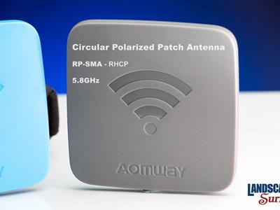 Aomway RP-SMA - Circular Polarized Patch Antenna- 5.8GHz - RHCP
