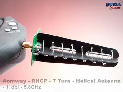 Aomway - RHCP - 7 Turn - Helical Antenna - 11dbi - 5.8GHz
