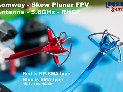 Aomway RP-SMA  - Skew Planar FPV Antenna - 5.8GHz -  RHCP