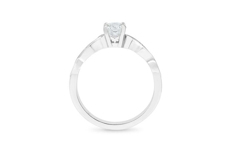 Aoraki diamond solitaire engagement ring nz inspired