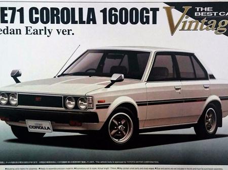 Aoshima 1/24 TE71 Corolla 1600GT Sedan early Ver.