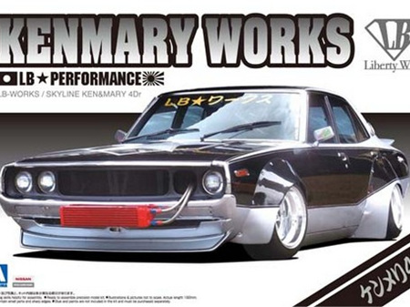 Aoshima 1/24 LB Works Nissan Skyline Ken & Mary 4Dr