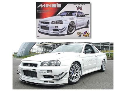 Aoshima 1/24 Nissan Skyline Gt-R R34 Mine'S