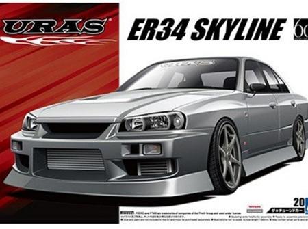 Aoshima 1/24 URAS ER34 Skyline 25GT-t