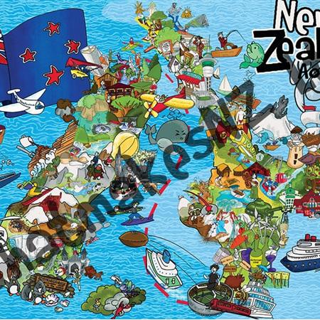 Aotearoa Awesome Jigsaw 1000 pieces
