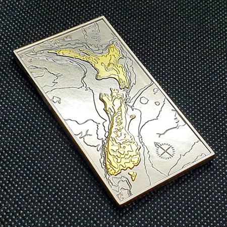 Aotearoa Deluxe Geocoin - V6 Silver & Gold VLE