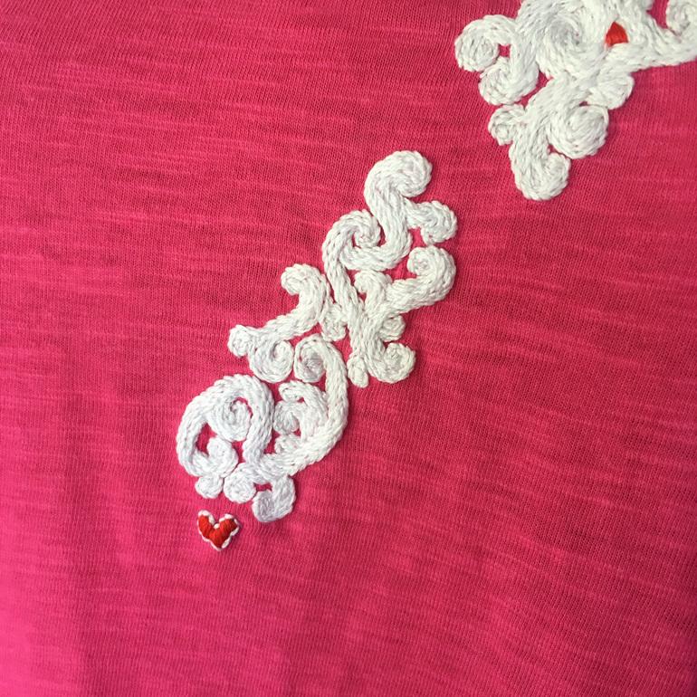 aotearoa hand embroidered tshirt