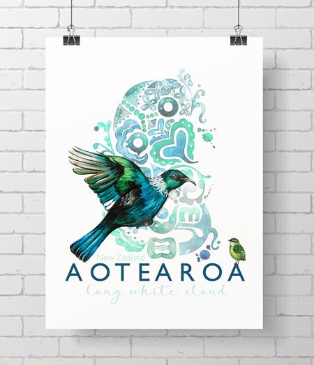 Aotearoa - on A3