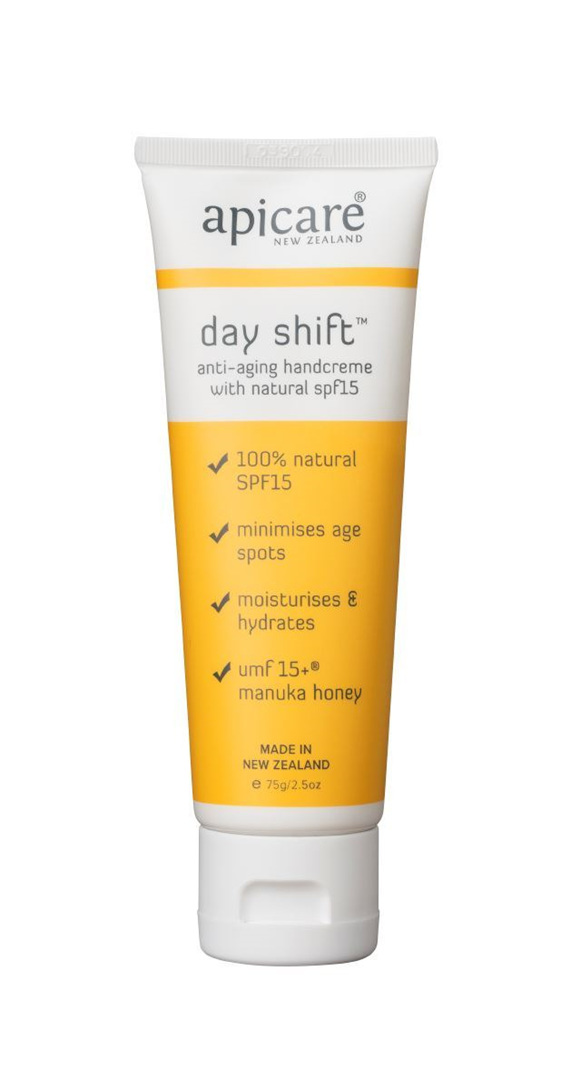 Apicare Dayshift Anti-Aging Hand Creme with Natural SPF15 75g