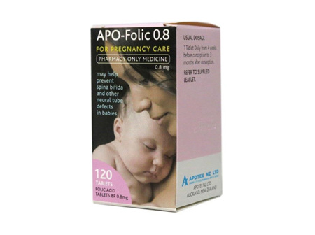 APO Folic Acid Tabs 0.8mg 120