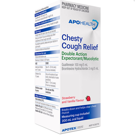 APOHEALTH CHESTY COUGH DOUBLE ACTION RELIEF 200ML