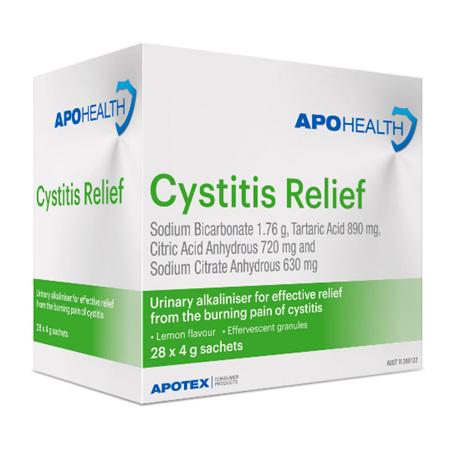 APOHEALTH CYSTITIS RELIEF 28X4 SACHETS