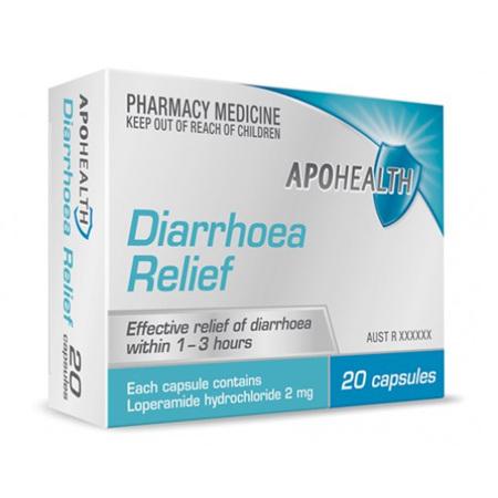APOHEALTH DIARRHOEA RELEIF 2MG 20 CAPSULES