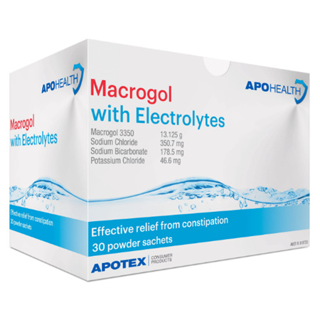 APOHEALTH MACROGOL WITH ELECTROLYTES 30 SACHETS