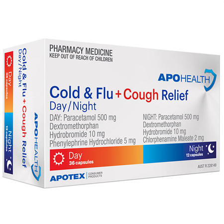 APOHEALTH PE COLD & FLU RELIEF DAY & NIGHT 48 TABLETS S2