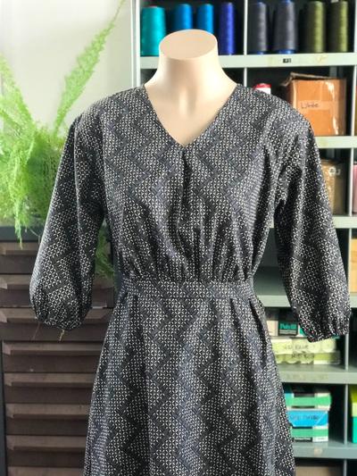 April dress, charcoal
