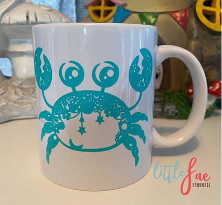 Aqua Crab Mug