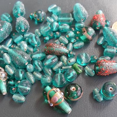 Aqua Fancy Bead Mix