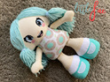 Aqua Flower Doll