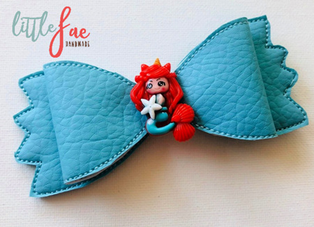 Aqua Mermaid Bow Hairclip