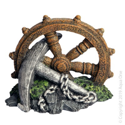 Aqua One - Anchor with Ship Wheel