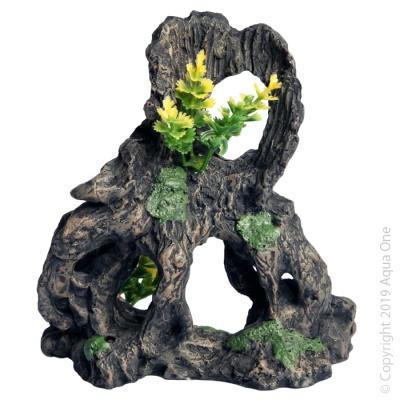 Aqua One - Stump with Plant