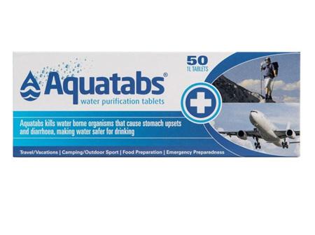 AQUATABS Water Purify 50 tabs RAD
