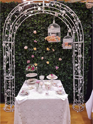 Arch and Ivy Wall