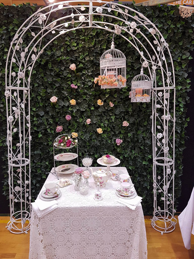 Products for hire bloomers for event hire arch metal with rose decorations 23 x 17m junglespirit Image collections