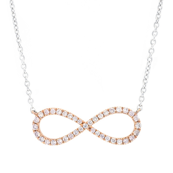 Argyle Pink Diamond Infinity Necklace
