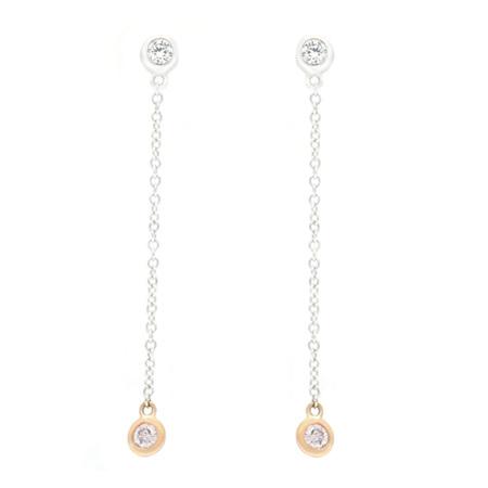 Argyle Pink & White Diamond Earrings