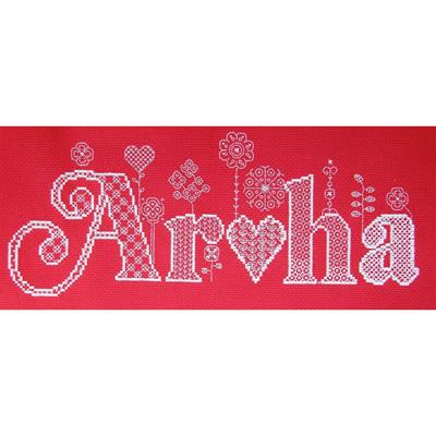 Aroha cross stitch/blackwork chart