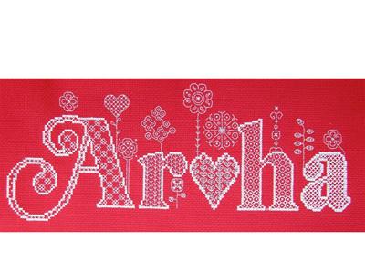 Aroha cross stitch/blackwork kit