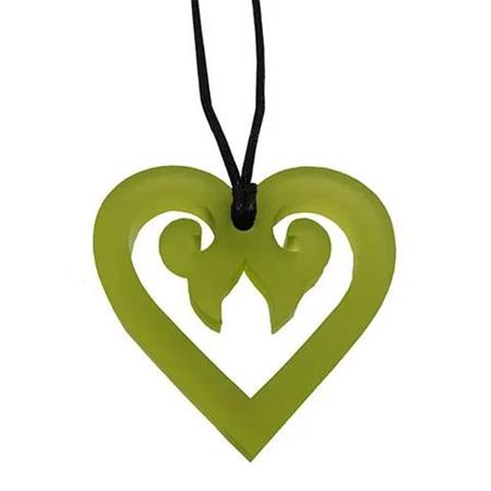 Aroha Heart Necklace: Green