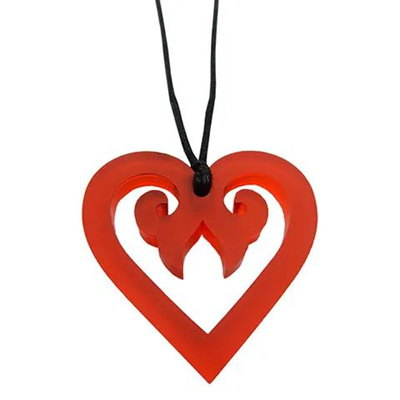 Aroha Heart Necklace: Red