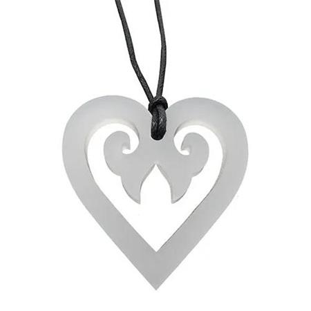 Aroha Heart Necklace: White