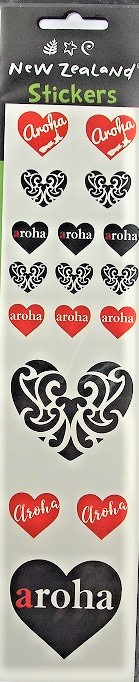 Aroha Heart Stickers